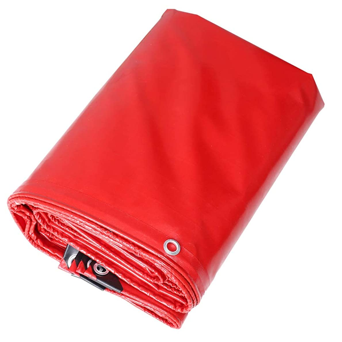オーガニック牛前投薬FQJYNLY タープリンター防水シート屋外の酸化防止防塵防雨布ファーム、サイズはカスタマイズすることができます (Color : Red, Size : 4X5m)