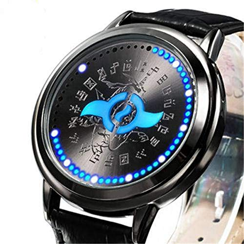 Digimon Adventure Tri. Digital Monster Courage LED Watch DIGIVICE Waterproof Touch Screen Wristwatch Cosplay Props Gift (Blue)