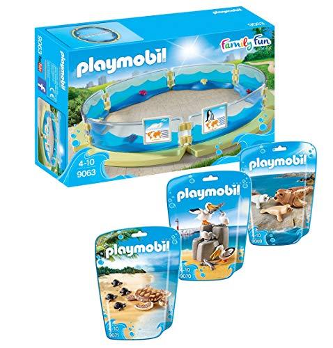 Playmobil Becken 4-teilig 9063 9069 9070 9071 Pelikan Schildkröten Seehunde