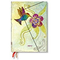 Paperblanks Dayplanners 2017 Hummingbird Midi Day-at-a-Time 12Months DE3395-0 英語版 正規輸入品