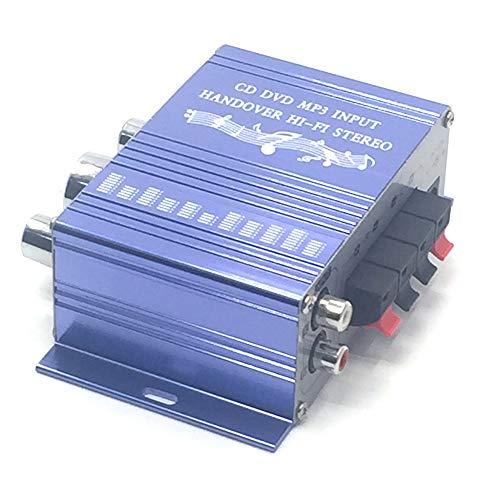 ACHICOO 12 V 2 CH Mini Hi-Fi estéreo au-dio Pequeño Amplificador para Coche Moto Radio MP3