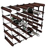RTA - Botellero de madera/acero galvanizado para 25 unidades, color Marrón