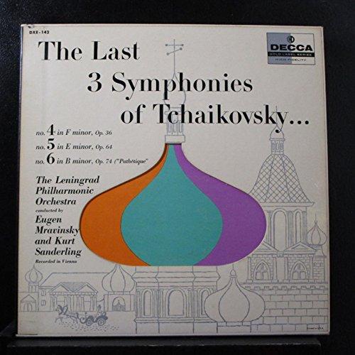 THE Last Three Symphonies of Tchaikovsky, 3 Lp Set, Decca Gold Label, Vinyls