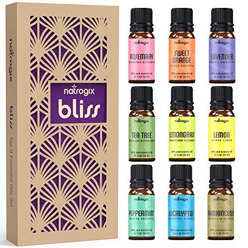 Natrogix Bliss Esssential Oils 9 Pack 10ml Therapeutic Grade 100%...