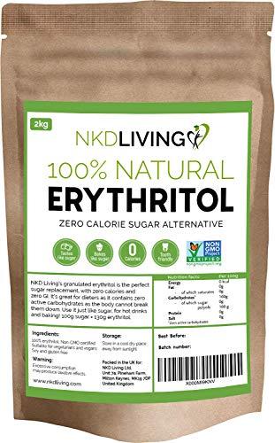 Eritritol 100 % natural 2 kg | Granulado sustituto del azúcar con...