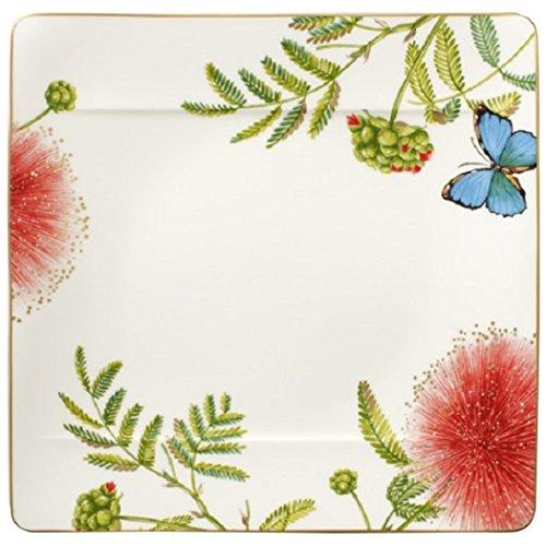 Villeroy & Boch Amazonia quadratischer Speiseteller, Edles Geschirr aus Premium Bone Porzellan, 27 x 27 cm