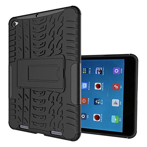 FullProtecter Xiaomi Mi Pad 2 Hülle,Bumper Cover Schutz Tasche Handyhülle Schutzhülle Silikon TPU+PC Hardcase für Xiaomi Mi Pad 2(Schwarz)