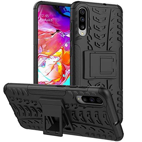 Preisvergleich Produktbild Conie OC52567 Outdoor Case Kompatibel mit Samsung Galaxy A70,  Defender robuste Schutzhülle Hülle extra Schutz für Galaxy A70 Hülle Schwarz