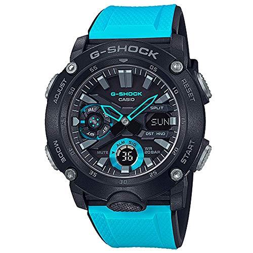 Men's Casio G-Shock Carbon Core Blue Resin Band Watch GA2000-1A2