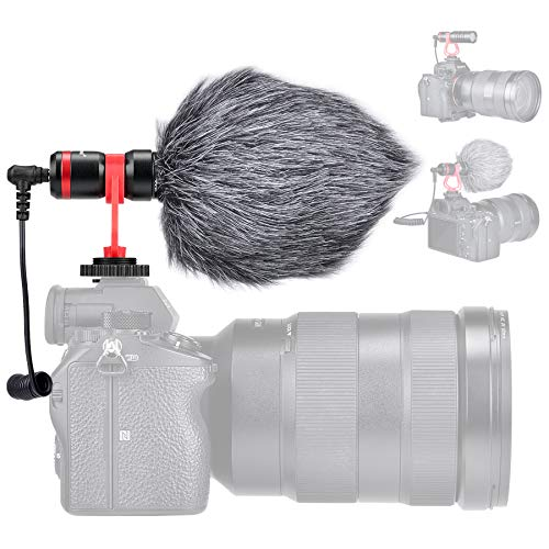 Professional Hi-sensity Hi-fidelity Mini Shotgun Video Condenser Microphone External Mic Compatible...