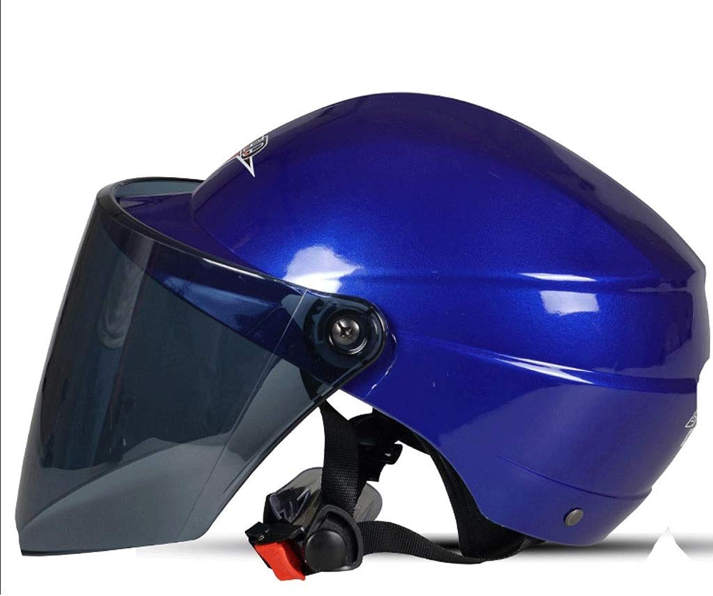 YangMi Helmet Electric Motorcycle Helmet Men and Women Summer Half Helmet Sunscreen Battery car Helmet Summer (color   E, Size   22X34CM)