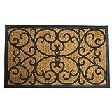 Rubber-Cal 'Cairo Outdoor Rubber Coco Coir Doormat, 18 x 30-Inch