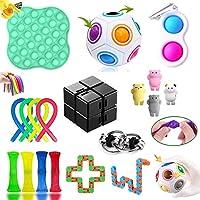 Fidget Toys Pack, Fidget Toys Sensory Toys Simple Dimple Fidget Toy for Soulager le Stress et l'anxiété, pour Enfants,...