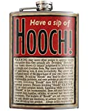 Have a Sip of Hooch - 8oz Flasks For Liquor For Men - Stainless Steel Flask For Women - Groomsmen Gifts - Whiskey Flask - Alcohol Flask For Men - Funny Flask - Hip Flask - Trixie and Milo…