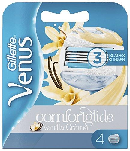 Gillette Venus ComfortGlide Vanilla Crème Rasierklingen, 4er-Pack