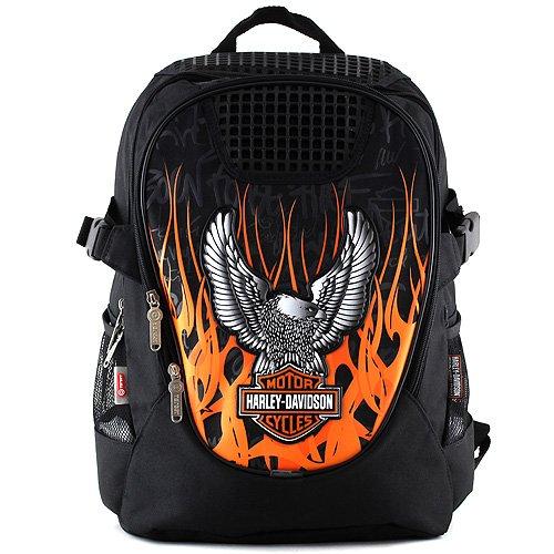 Harley Davidson Sac à Dos Enfants 44 cm Multicolore (Noir/Orange)