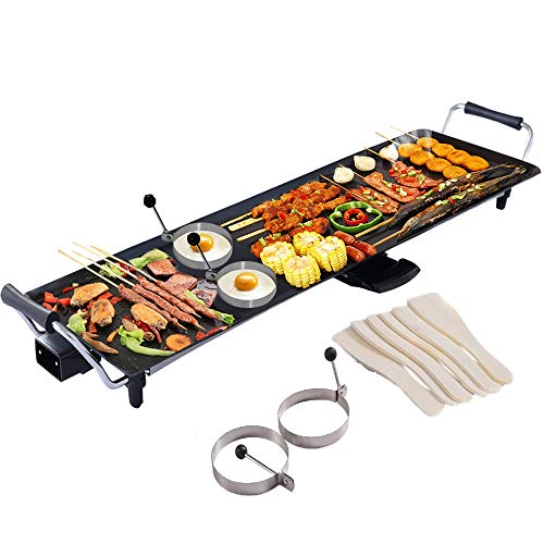 COSTWAY XL Electric Teppanyaki Table Grill, BBQ Griddle | Non-Stick...