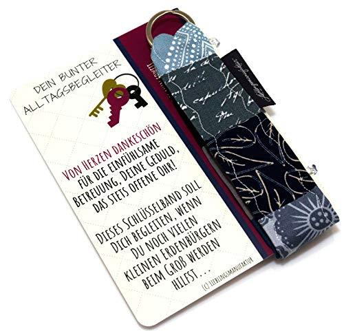 Lieblingsmanufaktur einzigartiges Geschenk Tagesmutter - von Herzen Dankeschön - Schlüsselanhänger mit Karte & Botschaft Geschenk einfach Danke sagen - leuchtendes Abschiedsgeschenk Tagesmutter