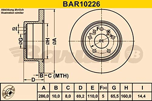 Barum BAR10226 BARUM Disque de frein paire BAR10226