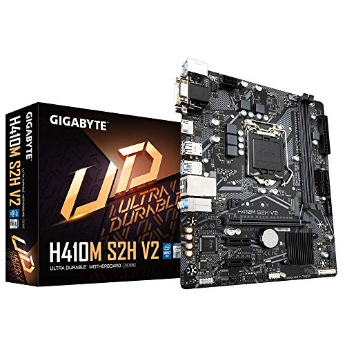 Gigabyte H410M S2H V2 Micro ATX Motherboard für Intel LGA 1200 CPUs