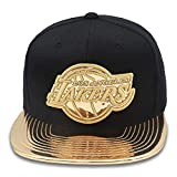 Mitchell & Ness Los Angeles Lakers Snapback Hat for Men - Black/Gold/Patent Leather - LA Lakers Cap for Men