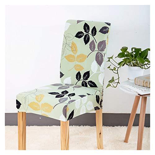 WQAZ Weicher Stuhlbezug Stuhlabdeckung Spandex Abnehmbare Sitzbezug für Büro Esszimmer Hochzeiten Party Bankett Universal Größe 1/2/4 / 6PC Samtmaterial (Color : Color22, Specification : 2 PCS)