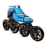 Patines en línea, Zapatos de Patinaje de Velocidad Rollerblade Inline Skates Roller para Chicos y Chicas Hombres Mujeres Zapatos de Patinaje de Velocidad para Principiantes,Azul,44