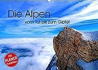 Die Alpen - vom Tal bis zum Gipfel (Wandkalender 2022 DIN A2 quer): Kontrastreich praesentieren sich die Alpen dem Naturfreund. (Geburtstagskalender, 14 Seiten )