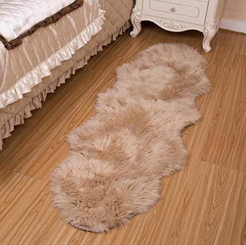 Alfombra de lana sintética, para el hogar, para sala de estar, de pelo cálido, para estudio de Hudson (color café)