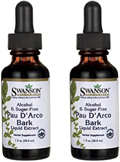 Swanson PAU D'Arco Bark Liquid Extract (Alcohol- & Sugar-Free) 1 fl oz Liquid 2 Pack