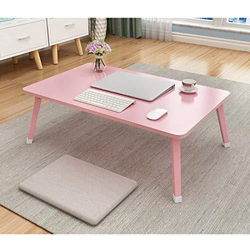 TYOP Mesa de portátil, pequeña Mesa Plegable en la Cama, Mesa de Libro de Dormitorio Simple, Mesa de Comedor, Mesa de Oficina, Mesa de Viaje, 70 * 45 cm (Color : C Style 70 * 45 * 29cm)