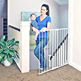 Toddleroo by North States 47.85' wide Tall Easy Swing & Lock Gate: Ideal for standard stairways. Hardware mount. Fits openings 28.68' - 47.85' wide (36' Tall, Warm White)