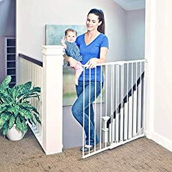 """powerful Toddleroo of North States 47.85 """"Wide, light swing and high rock gates: perfect for standard stairs …"""