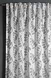 GARDINIA Cortina Opaca con Trabillas Ocultas y Cinta de Cortina, Color Gris, 140 x 245 cm