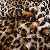 TOLKO 50cm Leopard Kunstfell kuschelig weiches Fellimitat