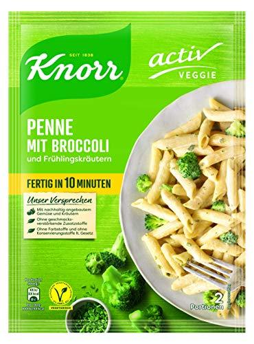 Knorr Veggie Penne mit Broccoli und Frühlingskräutern, 10er Pack (10 x 146 g)