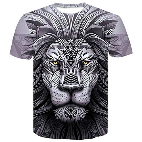 León Lobo Cine Moda Casual Male 3D Camiseta Impresa de los Hombres Fresco de la Camiseta de los Hombres/Mujeres de Manga Corta de Verano tee Tops