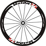 DdeCals para 2 Ruedas/Set Bike Road 700c 40 50 Rim Etiquetas de Rueda de Las Ruedas de Profundidad Rim Racing Wheel Set Stickers Calcomanías de la Bicicleta Pegatinas de Ruedas Pegatinas para Moto