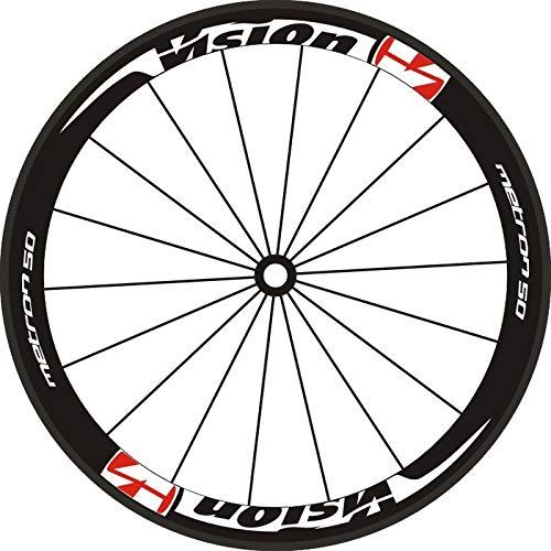 Decoración de la Motocicleta DdeCals para 2 Ruedas/Set Bike Road 700c 40 50 Rim Etiquetas de Rueda de Las Ruedas de Profundidad Rim Racing Wheel Set Stickers Calcomanías de la Bicicleta Pegatinas de