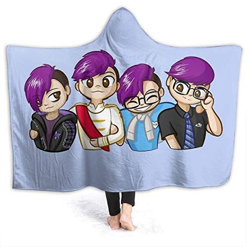 maichengxuan Hooded Blanket 3D Fam-I-L-Y Super Soft Sherpa Fleece Blanket 60'x50'