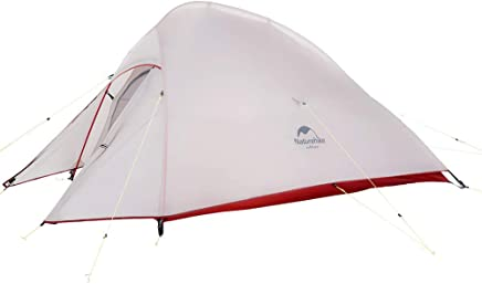 Naturehike Cloud-Up 1, 2 and 3 Person Ultralight Backpacking Tent with Footprint - 4 Season All Weather Free Standing Lightweight Tent 20D Silicone Coated Backpack Camping Dome Tents