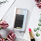 Eyelash Extensions 0.15mm D Curl 8-15mm Mixed Tray, Easy to Pick, Long Retention Time Individual Eyelashes Extension for Salon Professional Use Eye Lashes Extension
