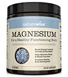 NatureWise Naturewise Magnesium Powder for Nerve & Energy Support from Magnesium Citrate (2+ Month Supply), 303.6 Gram