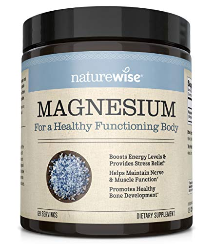 NatureWise Naturewise Magnesium Powder for Nerve & Energy Support from Magnesium Citrate (2+ Month Supply)