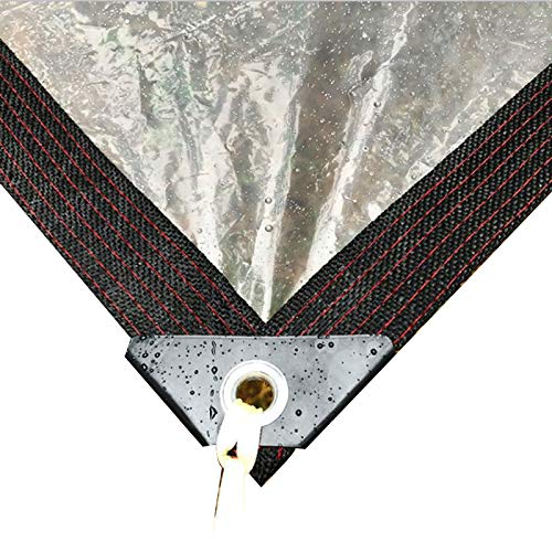 GZHENH Lona Transparente, con Ojal A Prueba De Humedad Paño De Membrana Impermeable Plegable Cubierta De Plástico PE, Personalizable (Color : Claro, Size : 5X6m)
