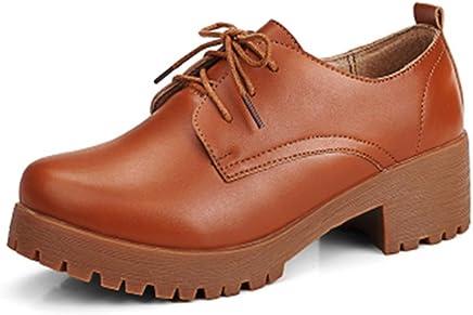 e30208de15 Luyomy Women's Fashion Leather Lace-up Shoes Classic Low Heels Vintage  Oxfords Shoes