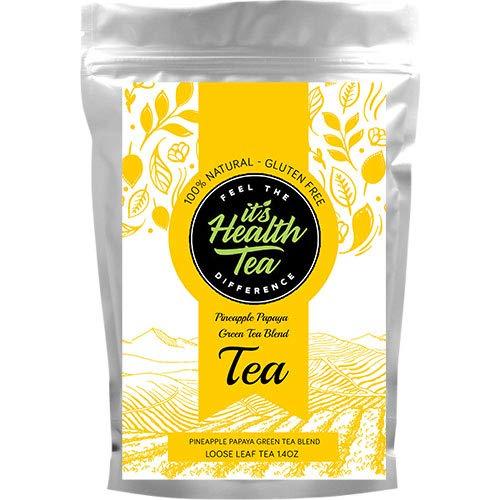 Pineapple Papaya Green Tea Blend with Sencha Green Tea & Pineapple Pieces (Weight Loss & Immune System Aid)