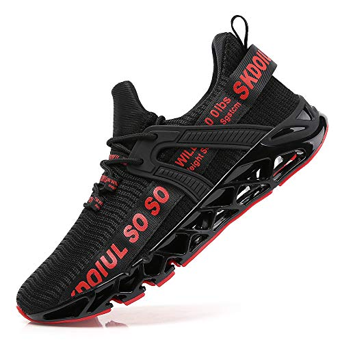 TSIODFO Sneakers for Men Sport Running Shoes Athletic Tennis Walking Shoes Fashion Jogging Sneaker Black red Size 95