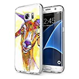 AIGOMARA Case for Galaxy S7 Edge Goat HD Clear Soft TPU Anti-Scratch Shock Absorbing Anti-Yellowing Bumper Shell