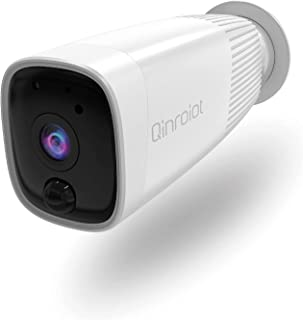【2021 Newest】Qinroiot Home Security Camera Outdoor, Wireless Rechargeable Battery Powered,1080P Surveillance Camera with P...